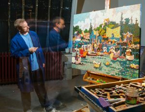 Artist John Leblanc in Studio